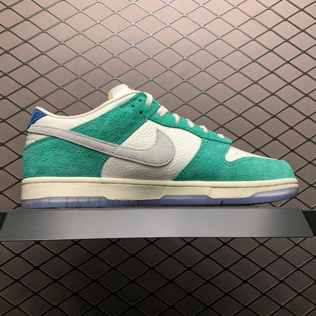 耐克SB系列板鞋 nike sb dunk low白绿 37IPOO4 莆田公司级 高仿鞋