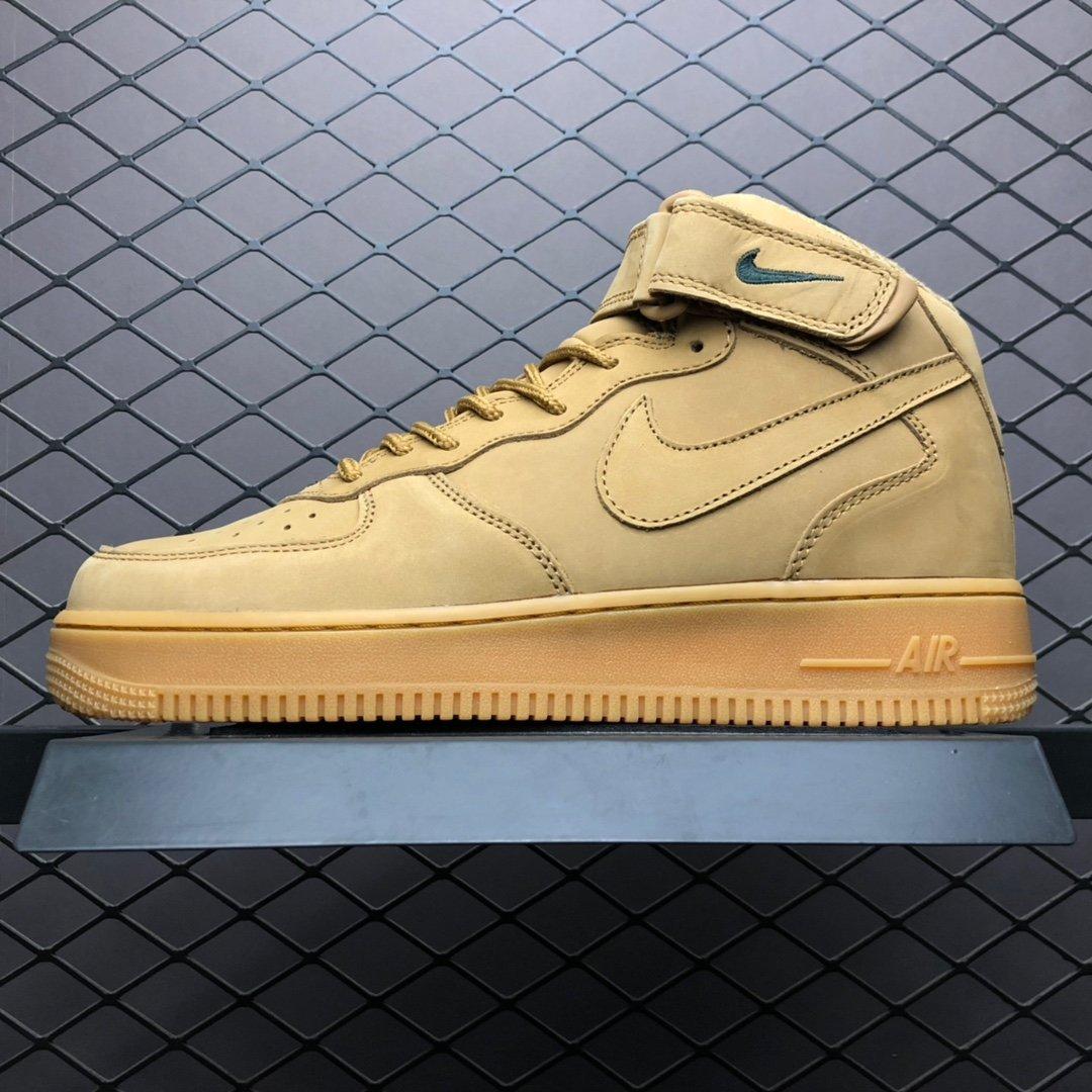nike空军一号Nike Air Force 1 MID '07 高帮小麦色板鞋 715889-200莆田公司级 高仿鞋