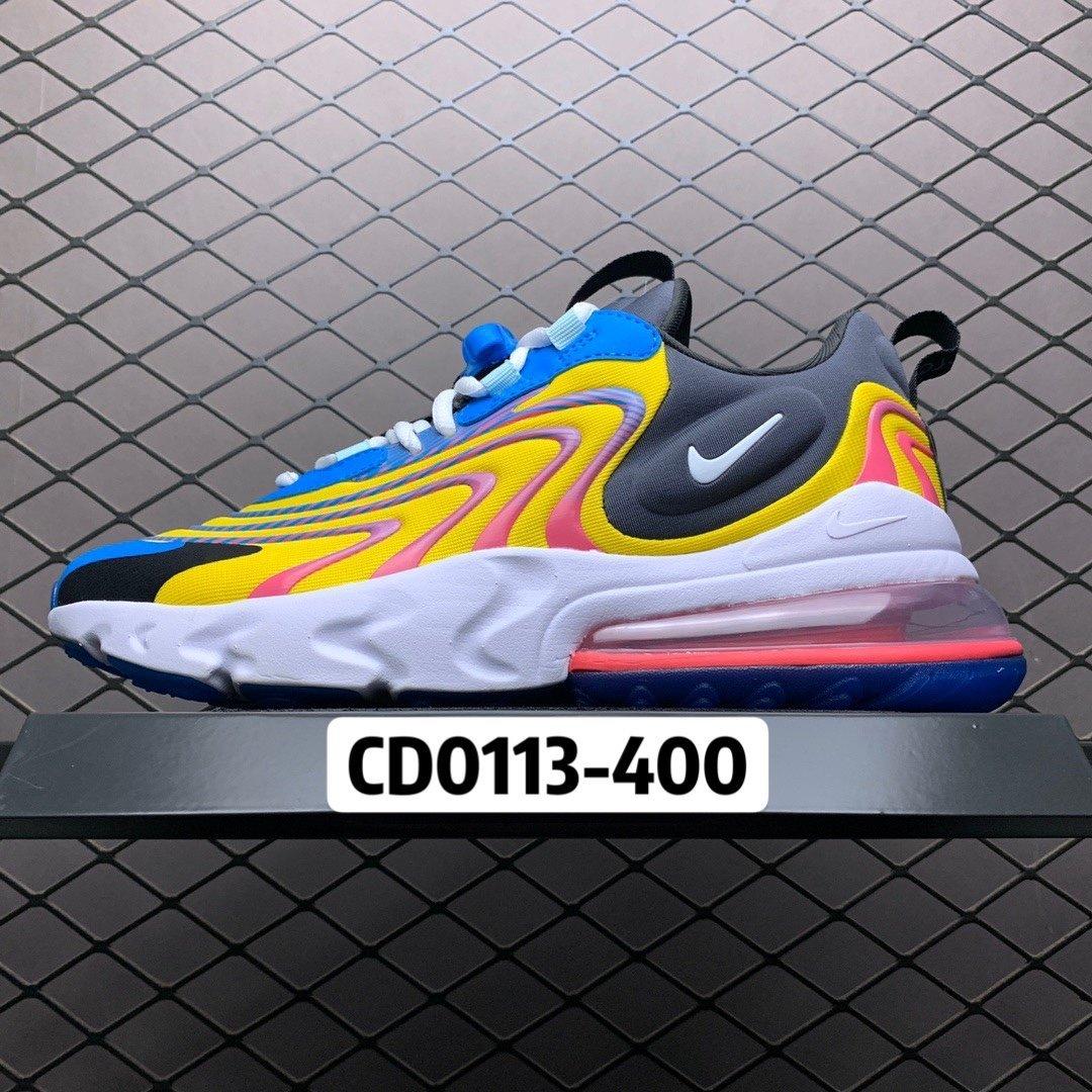 耐克跑鞋 耐克air max270气垫鞋 React ENG混色新款CD0113-400 莆田公司级 高仿鞋