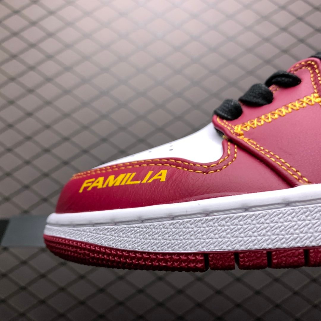 耐克AJ鞋 Air Jordan 1 Mid AJ1中帮红色板鞋 DC0350-100莆田公司级 高仿鞋
