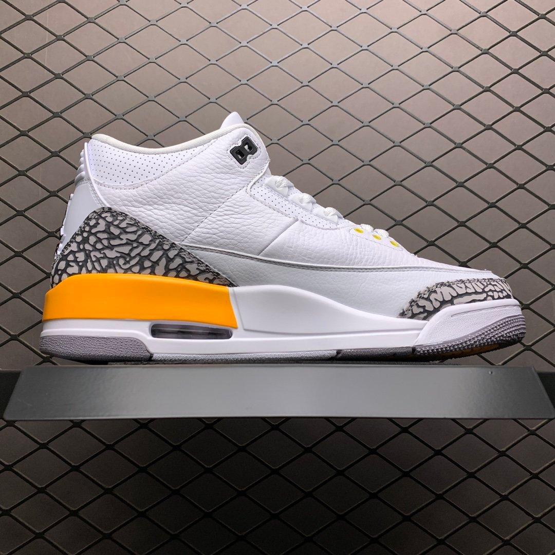 AJ篮球鞋 AJ3乔3 白橙 湖人篮球鞋 CK9426-108 莆田公司级高仿鞋