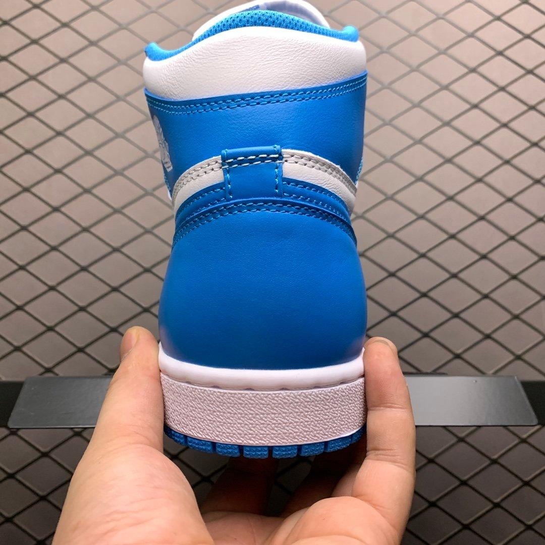 耐克AJ鞋 Air Jordan 1 Mid AJ1中帮北卡蓝板鞋 555088-117莆田公司级 高仿鞋