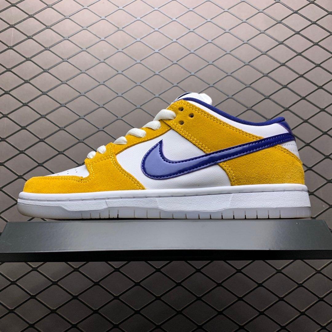 耐克sb系列板鞋 王一博同款鞋子紫金湖人BQ6817-800 耐克高仿鞋