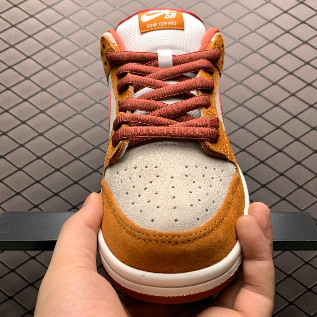 耐克sb系列板鞋 王一博同款鞋子棕色BQ6817-202 耐克高仿鞋