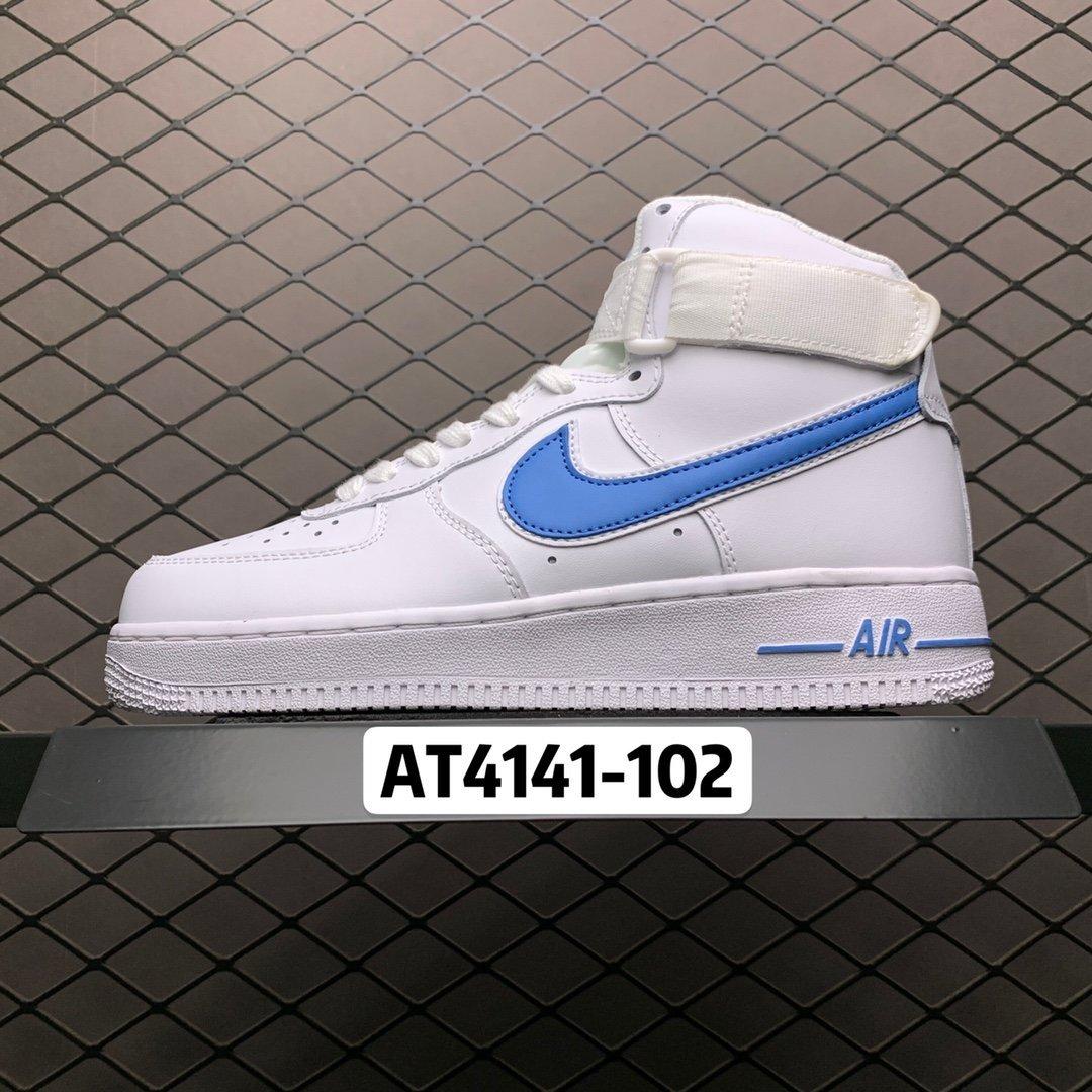NIKE空军一号高帮精仿白色A02424-101经典款高仿鞋