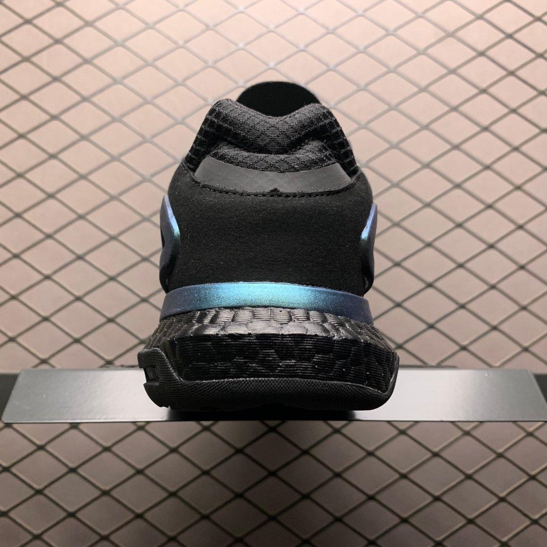 阿迪达斯夜行者二代纯黑爆米花大底复古跑鞋 FY3015