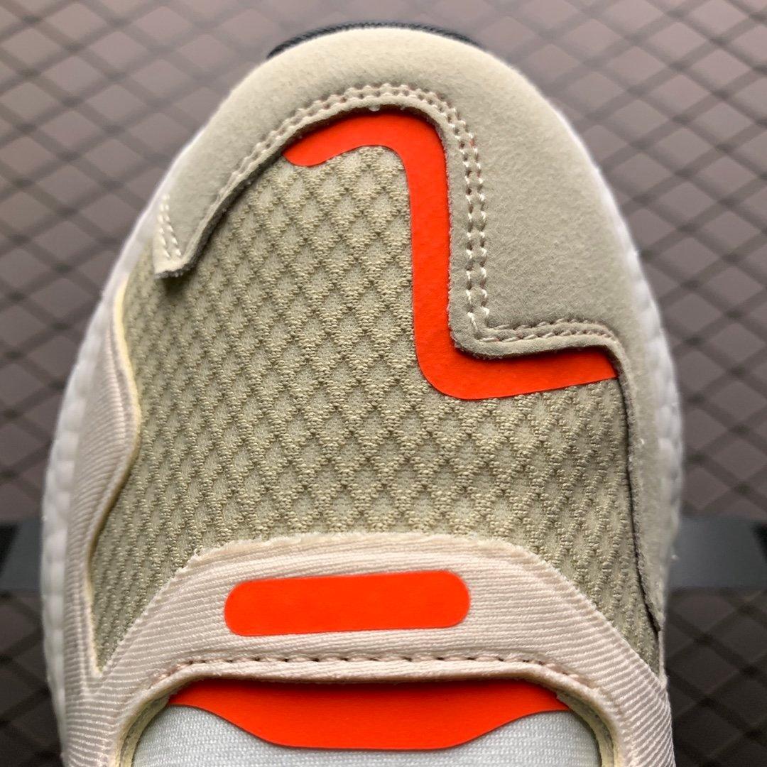 阿迪达斯夜行者二代灰白爆米花大底复古跑鞋 FW4826