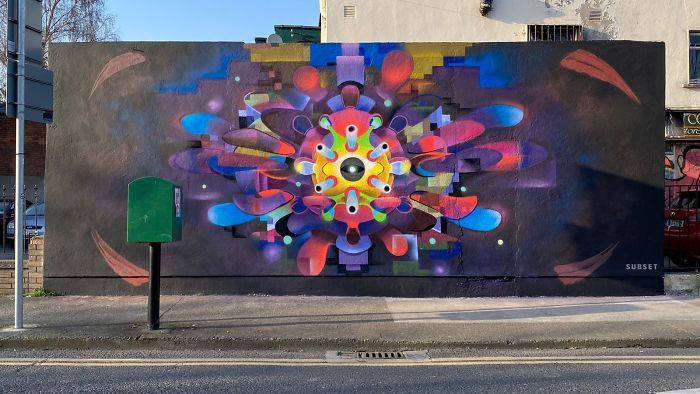 全球新冠肺炎疫情下世界各地的街头涂鸦艺术插图(19)