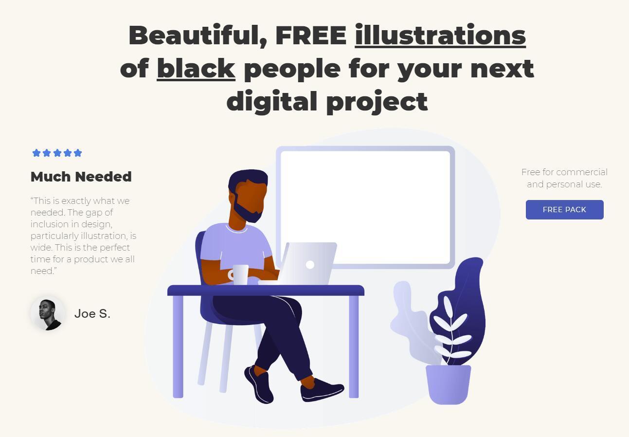 【潮流日报第七期】以黑人为主的免费插图集插图(8)