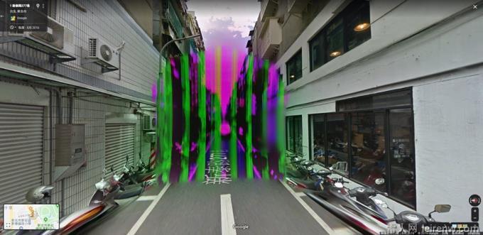 地图边缘的概念?网友查Google街景图惊见结界堵巷阻�娉雎�