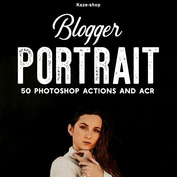 250+ Blogger Portrait PS Actions & ACR Pack 破解版 – 最流行的照片效果