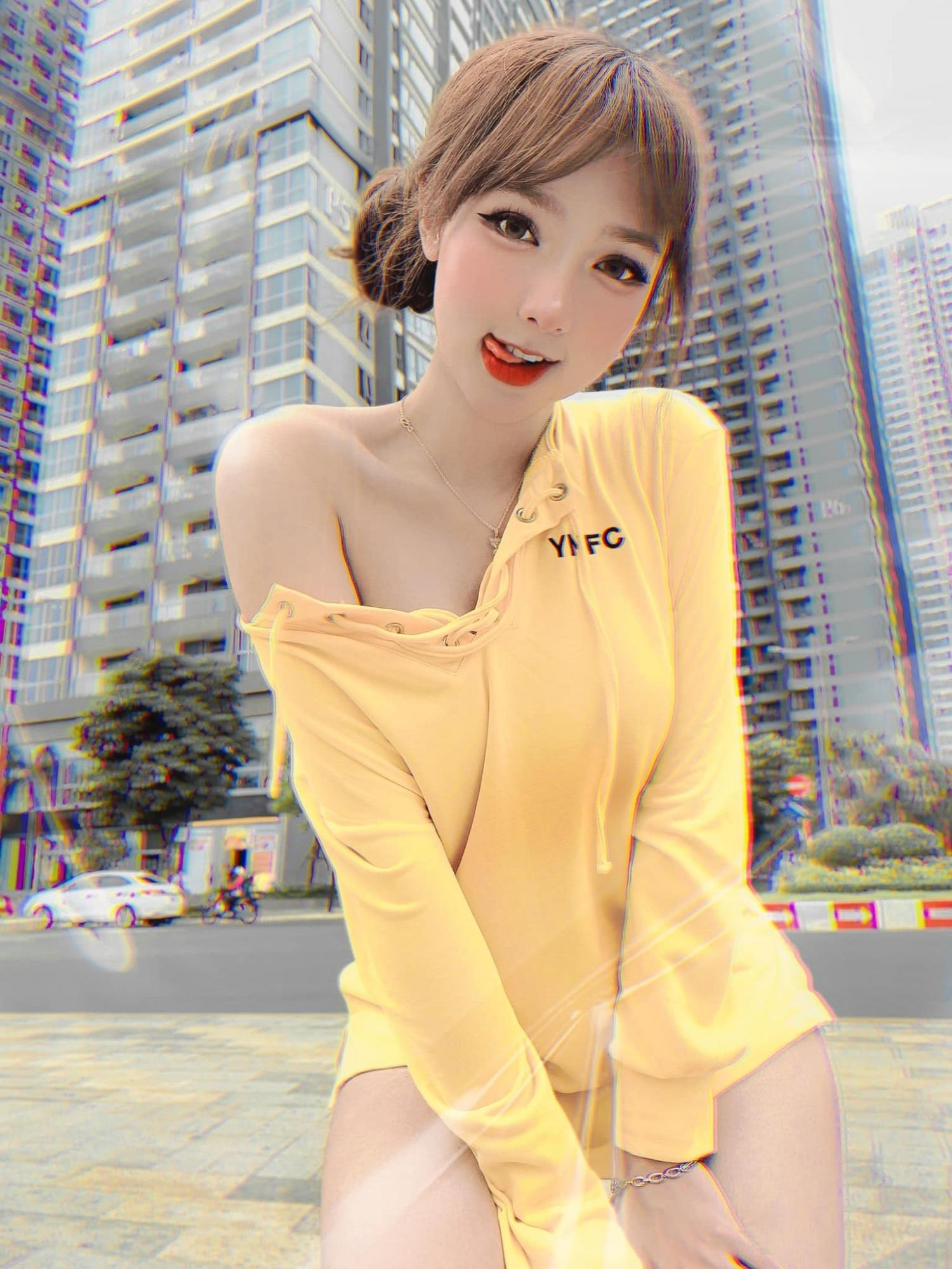 图片[10]-好像洋娃娃!越南正妹mỹm 还有「腰瘦、澎、卡撑顶扣扣」的超极品Body-福利巴士