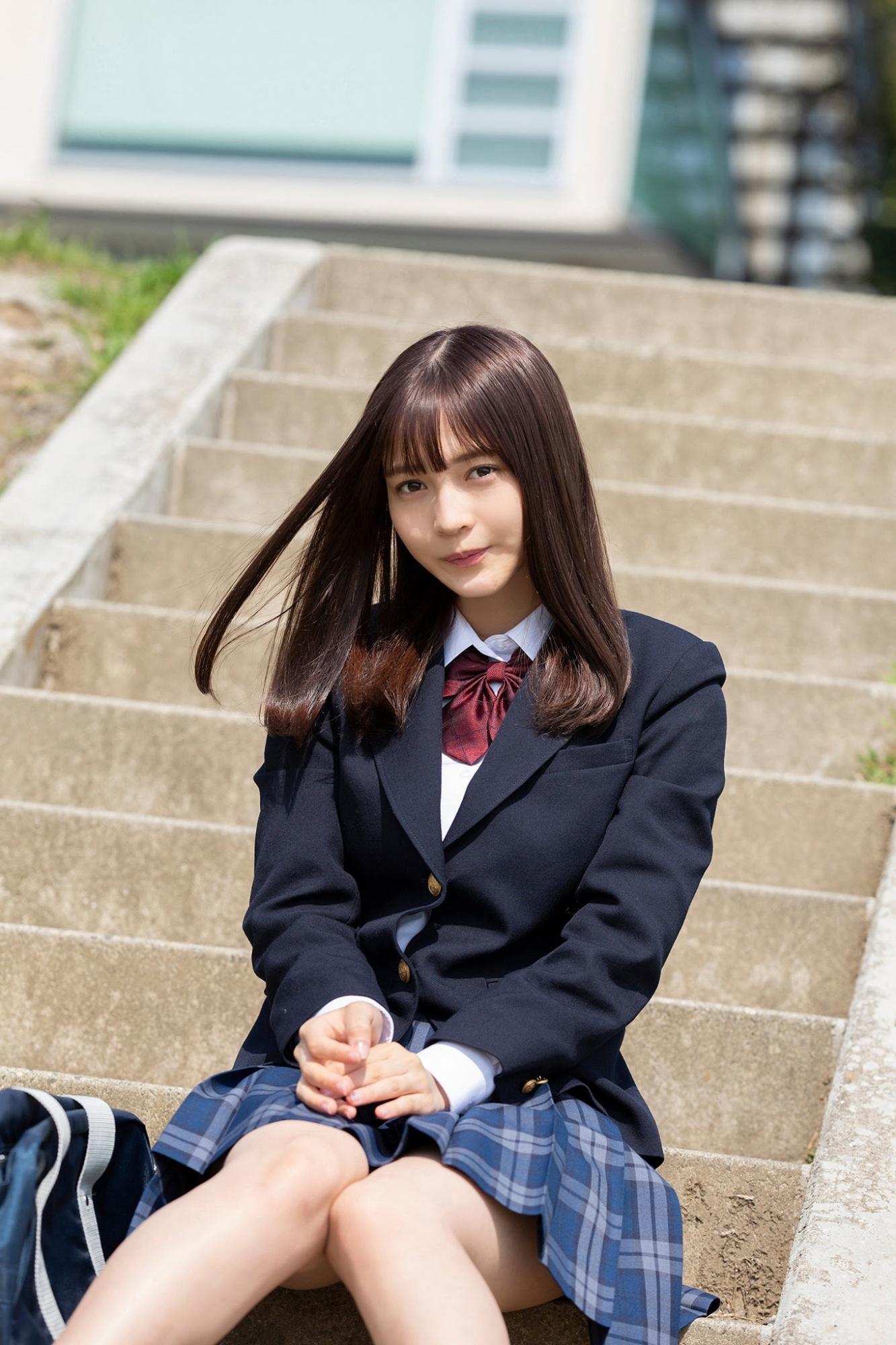 无辜眼神惹人宠爱.17 岁东京女孩「黑嵜菜菜子」青涩 网络美女 第8张