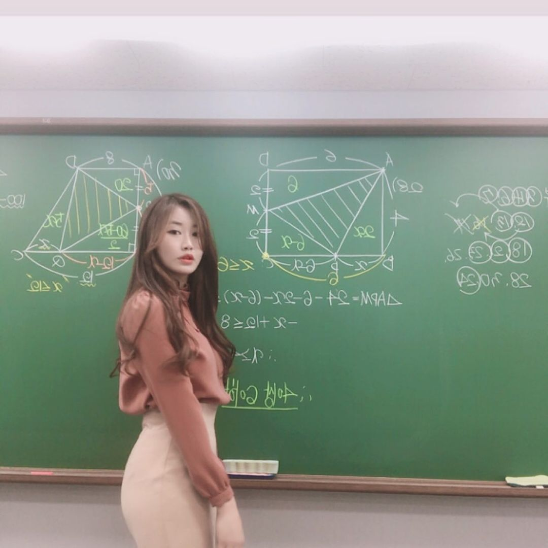 超正补教界美女老师.「数学仙女」站上讲台 养眼图片 第2张