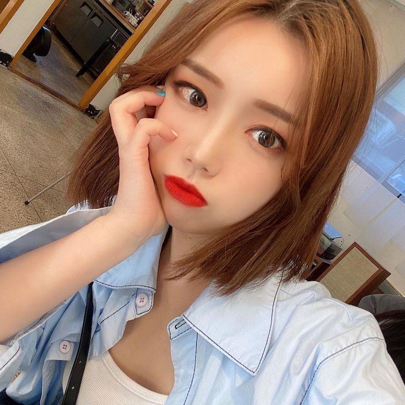 南韩短发正妹(ins:duck_zzi) 美图 热图6