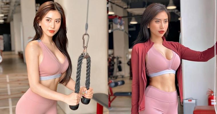 看完她的照片也想做运动了! 正妹「健身教练」魔鬼S曲线-喵喵女