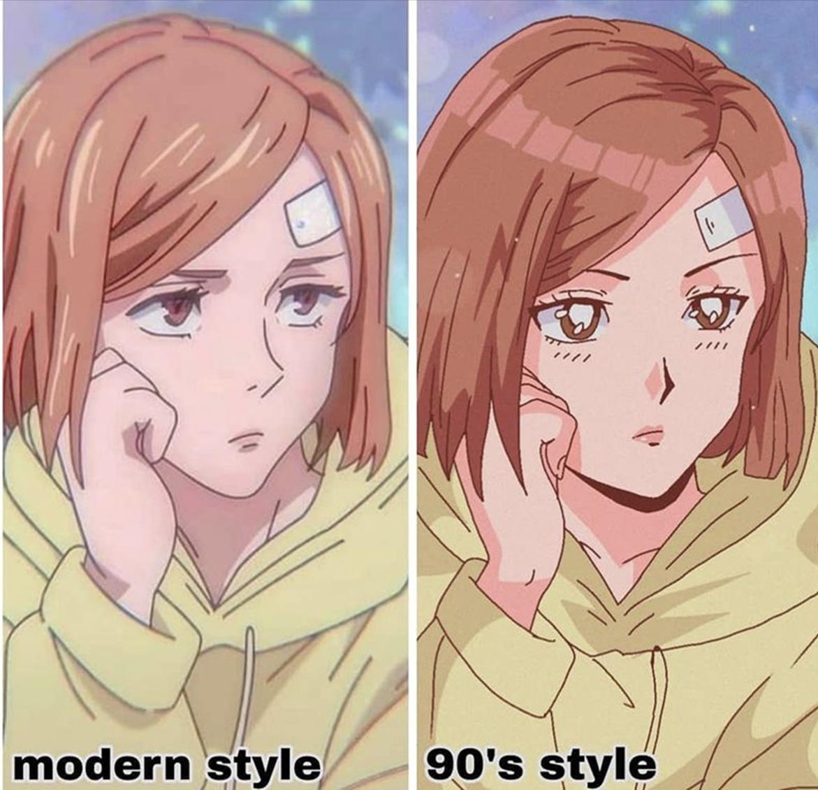 绘师二创模拟《90年代复古动漫画风》角色瞳孔像戴了放大片!-itotii