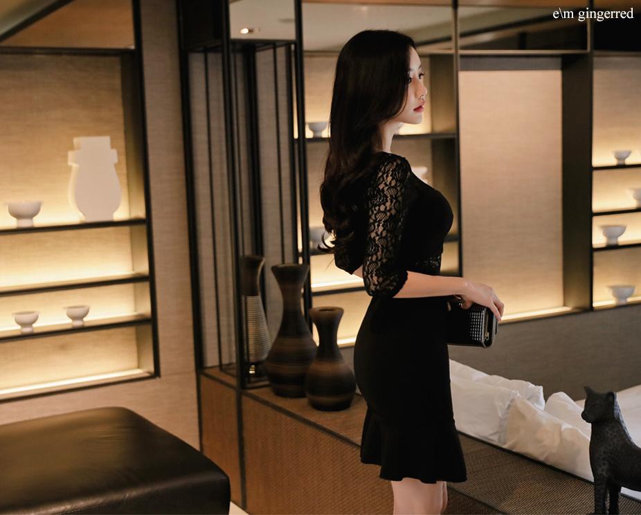 黑色短裙 尽显优雅 第4张