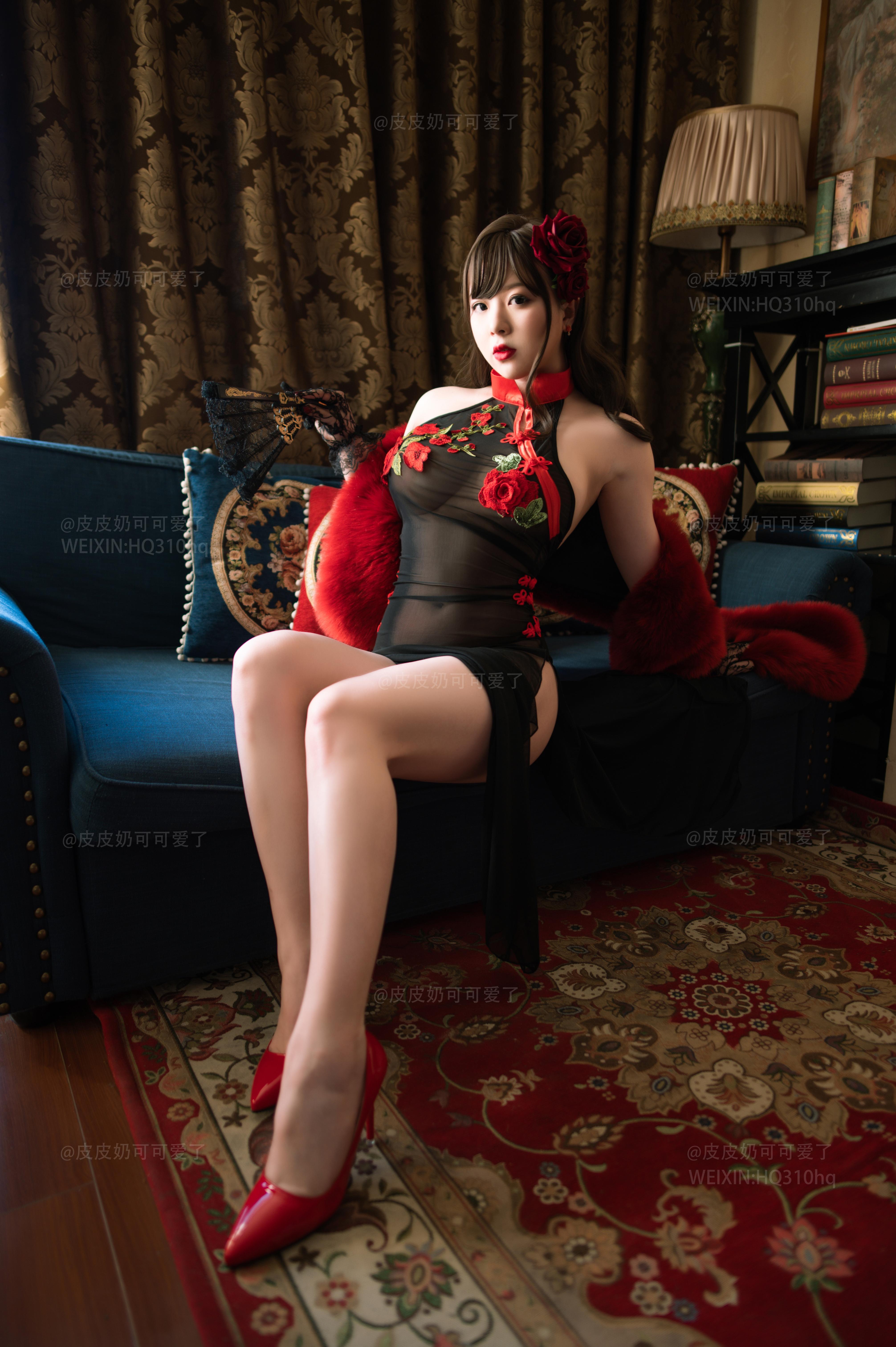 妹子这透视的旗袍简直无敌了 第3张 妹子这透视的旗袍简直无敌了 写真套图