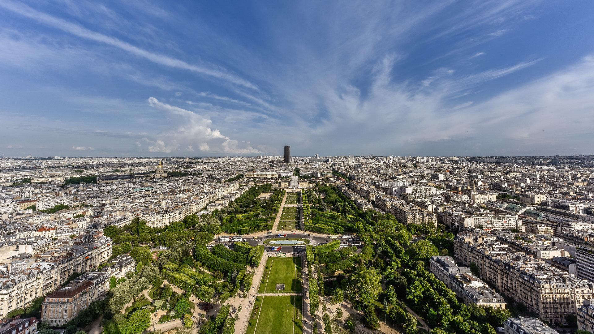 巴黎城市风光4K高清图片素材