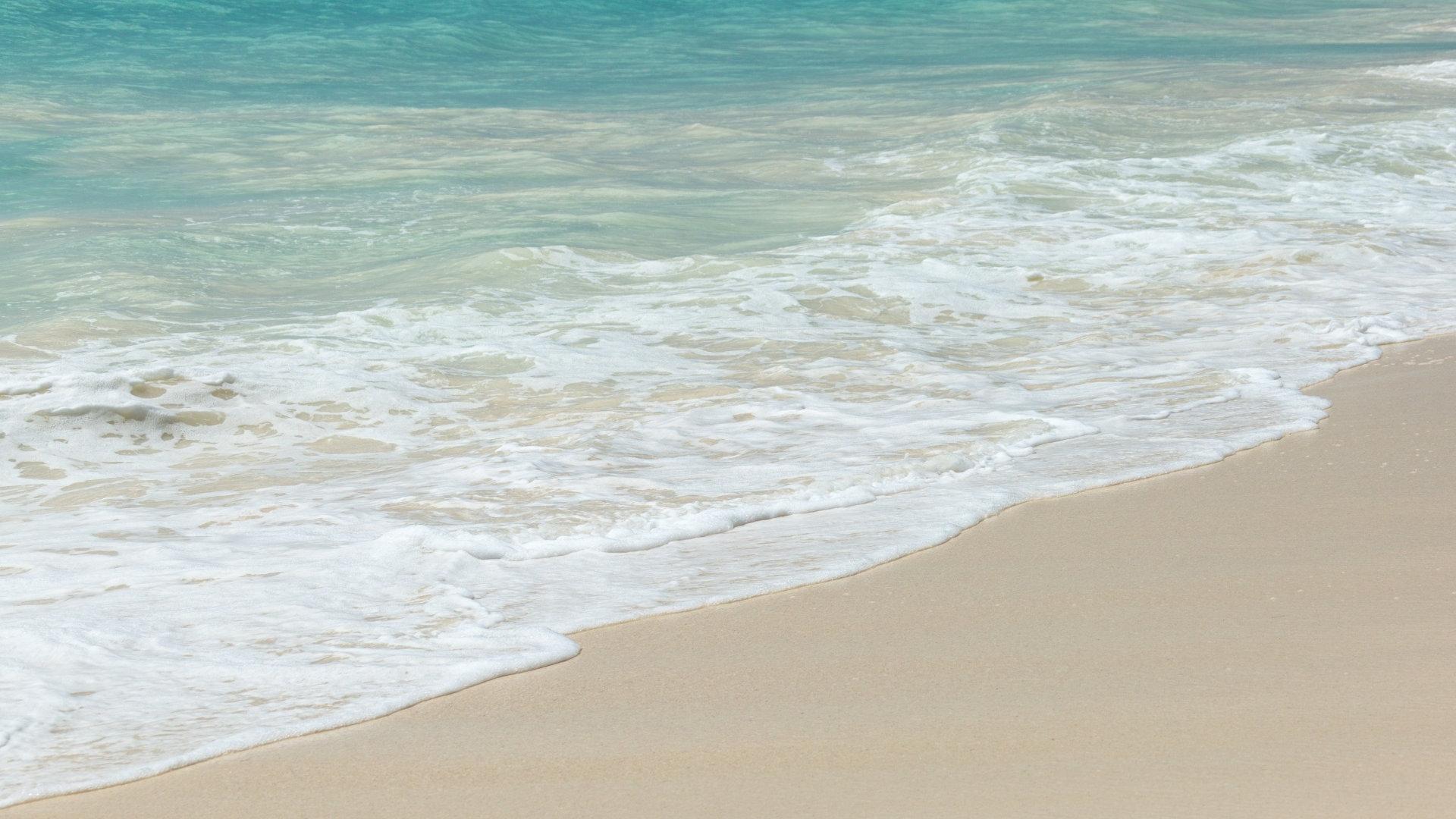 沙滩大海海浪1080P高清图片素材