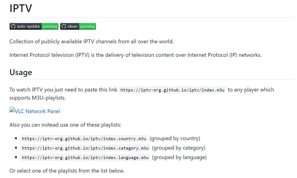 上千个全世界各地的高清频道 附送github项目地址