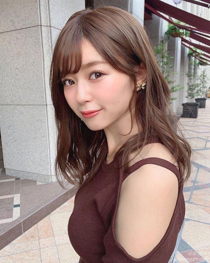 21岁日本模特石崎日梨,天使面孔,靓丽佳人_14