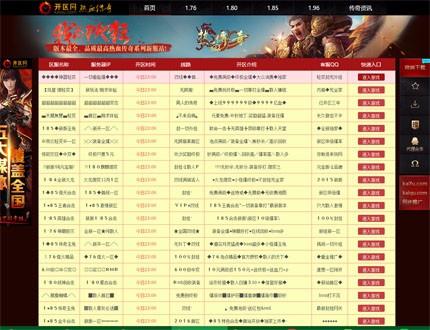 传奇发布网帝国模板-帝国CMS7.5传奇开区发布网源码下载