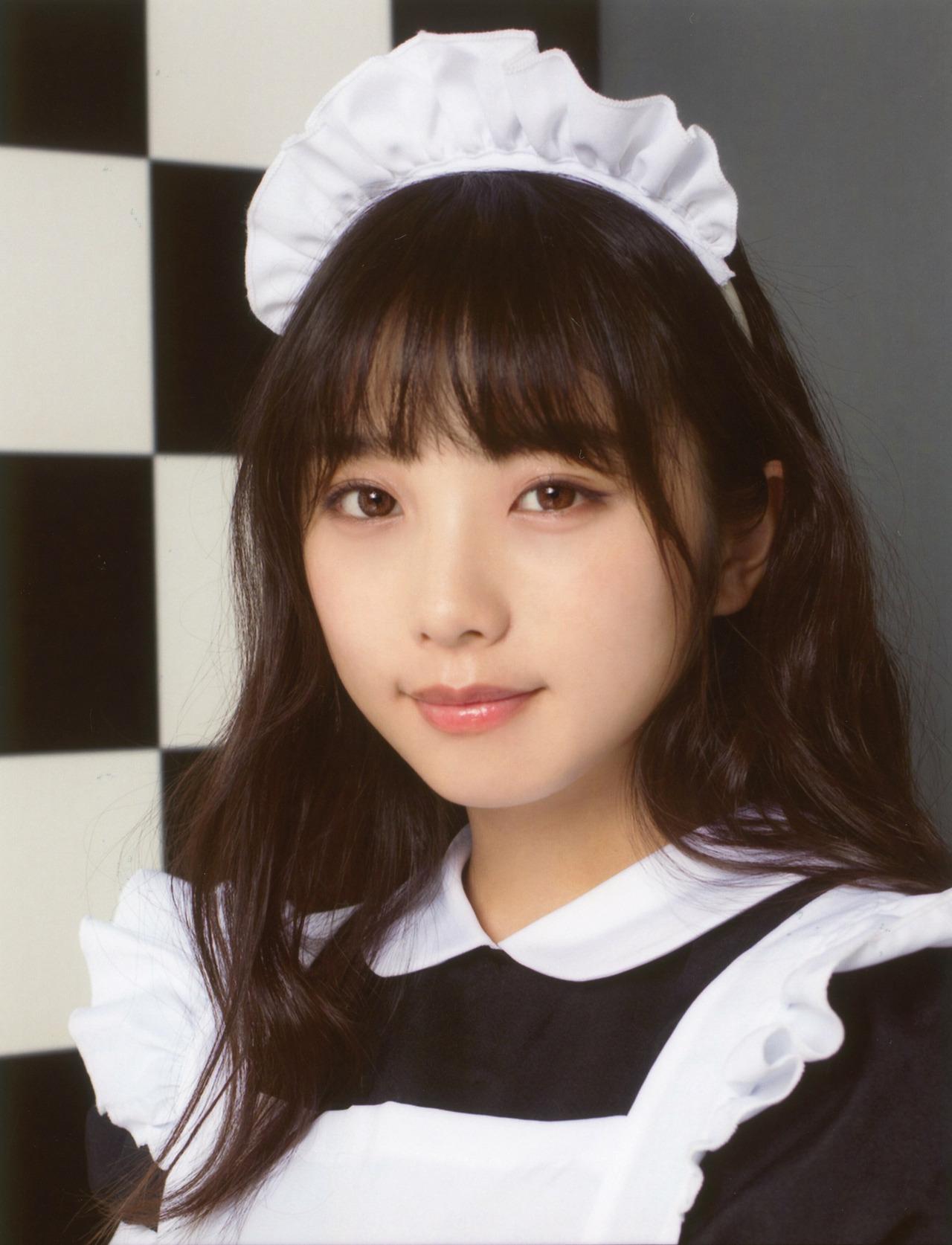 00年生日本小姐姐「与田祐希」女仆装 美呆了 第5张