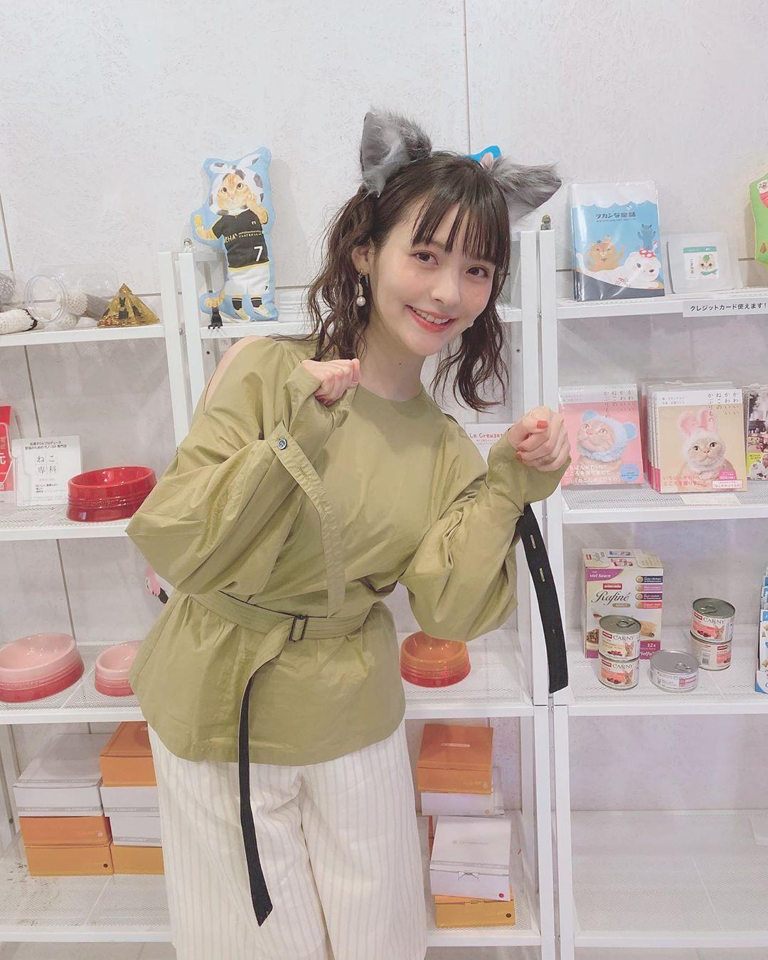 上坂堇 内田真礼 LO装合影 政委猫耳猫咖撸猫