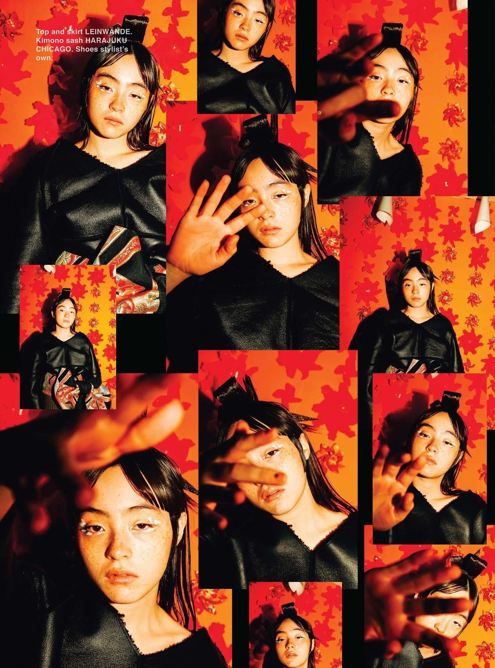满脸雀斑却依旧很美的混血模特世理奈写真作品 (2)