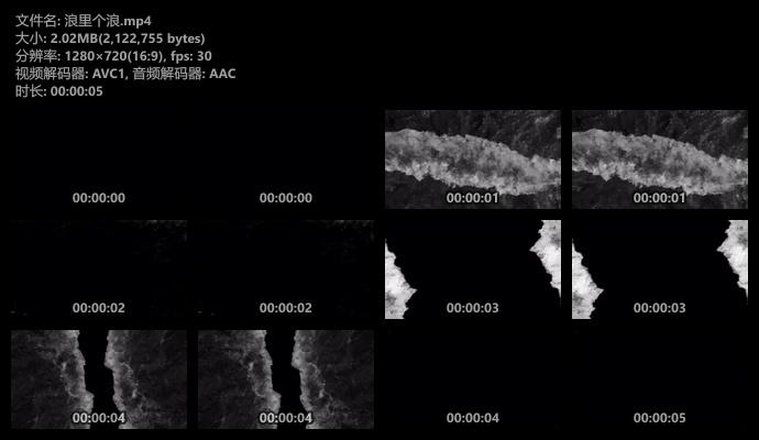 海浪黑幕背景视频素材