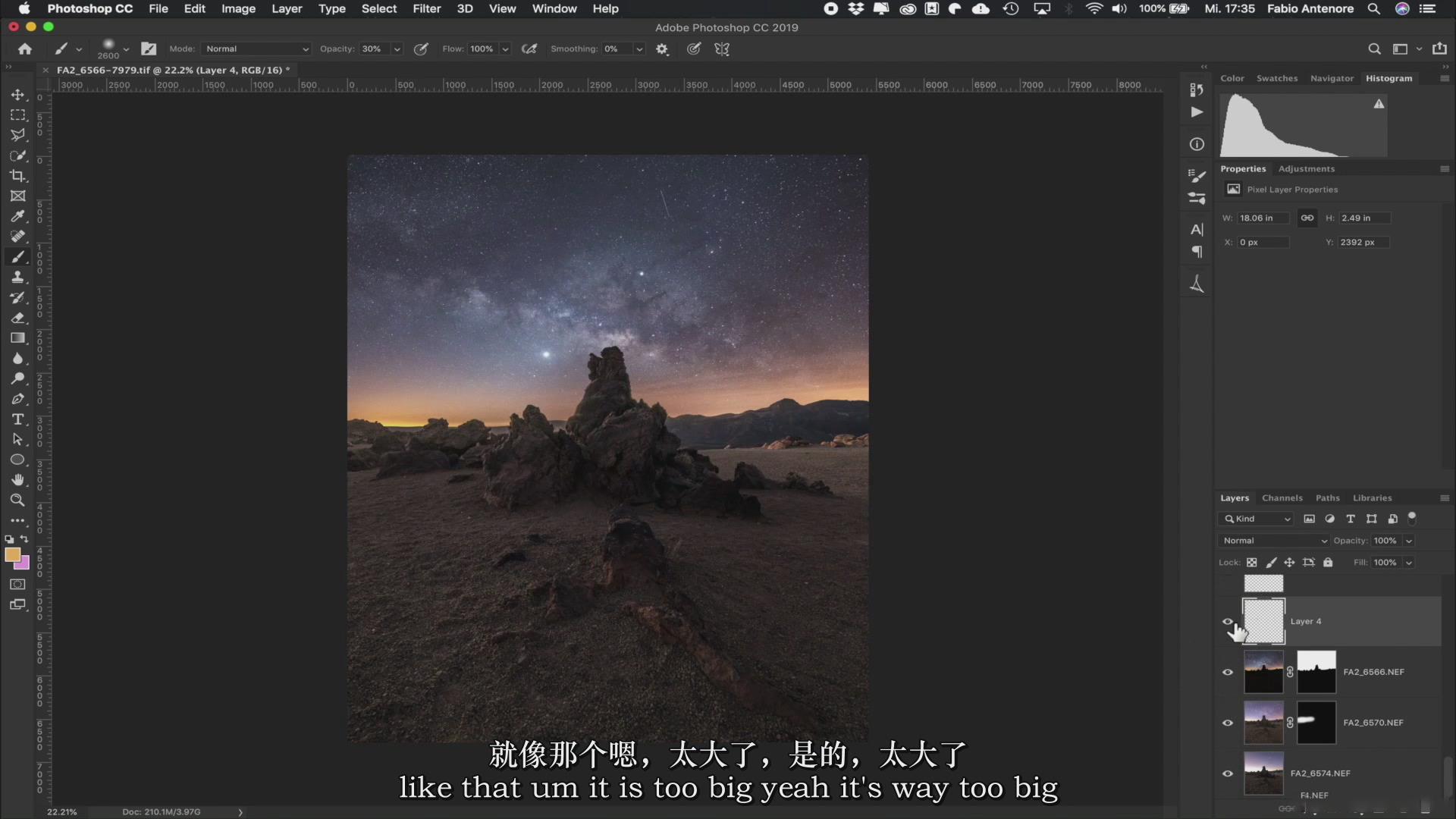 摄影教程_Fabio Antenore-超级真实银河系夜景风光摄影及后期附扩展素材-中英字幕 摄影教程 _预览图24