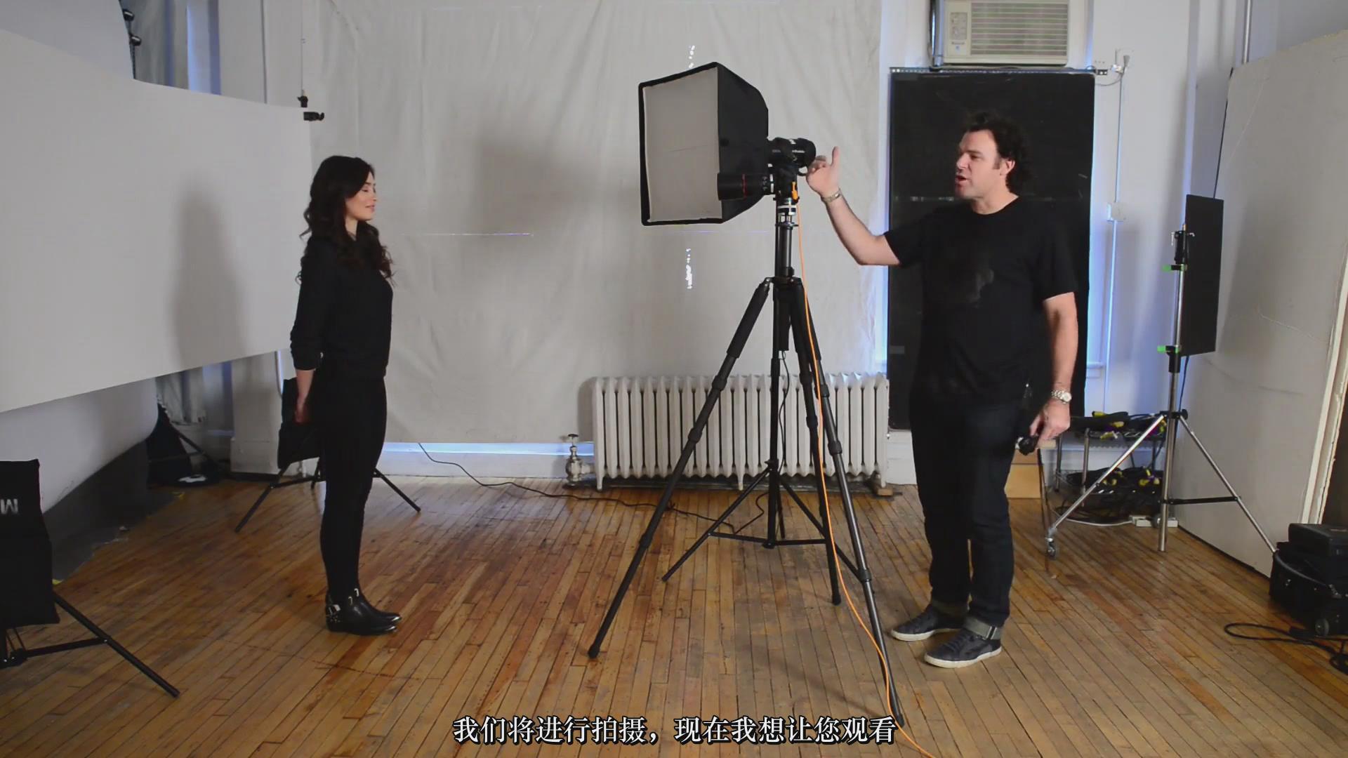摄影教程_Fstoppers-彼得·赫利(Peter Hurley)完美头像人像面部布光教程-中文字幕 摄影教程 _预览图3