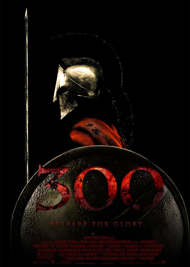 斯巴达300勇士海报