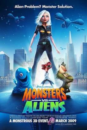 怪兽大战外星人海报