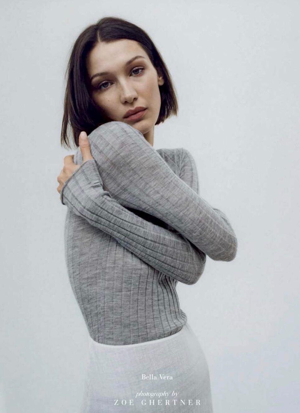 公主日记BellaHadid/意大利版Vogue三月...