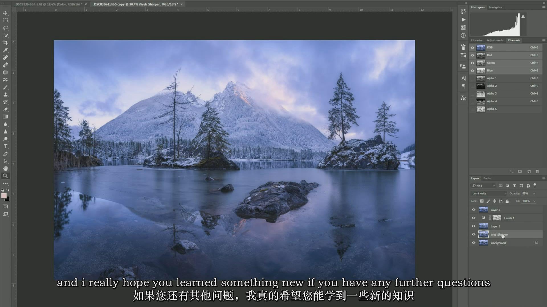 摄影教程_Daniel Fleischhacker景观和自然风光摄影Photoshop后期大师班-中英字幕 摄影教程 _预览图7