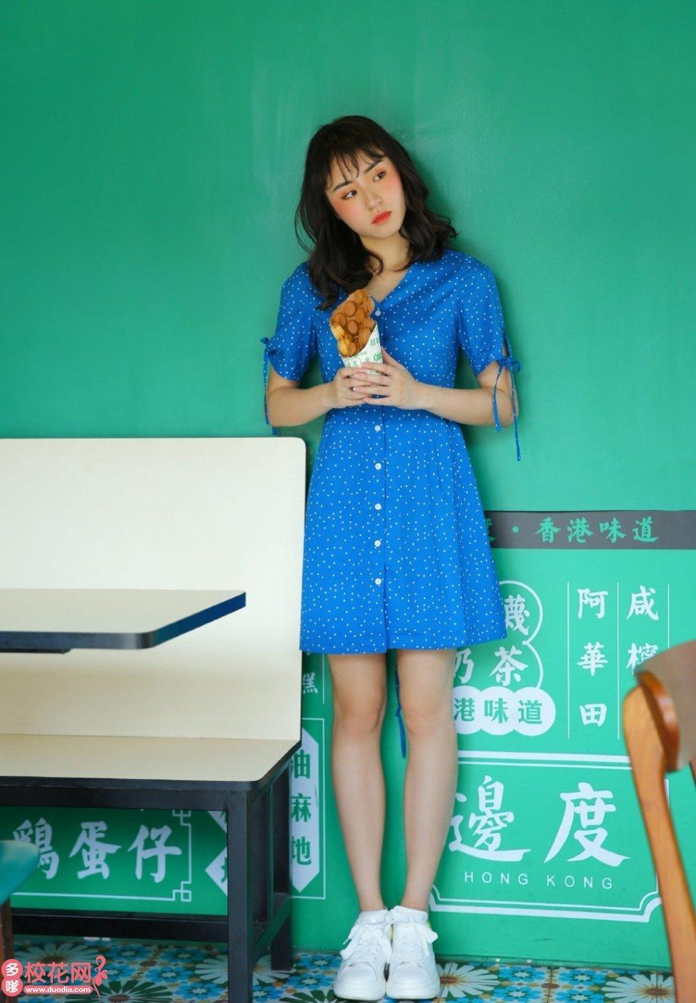 敖汉旗蒙古族中学美女校花于惠聪私房摄影