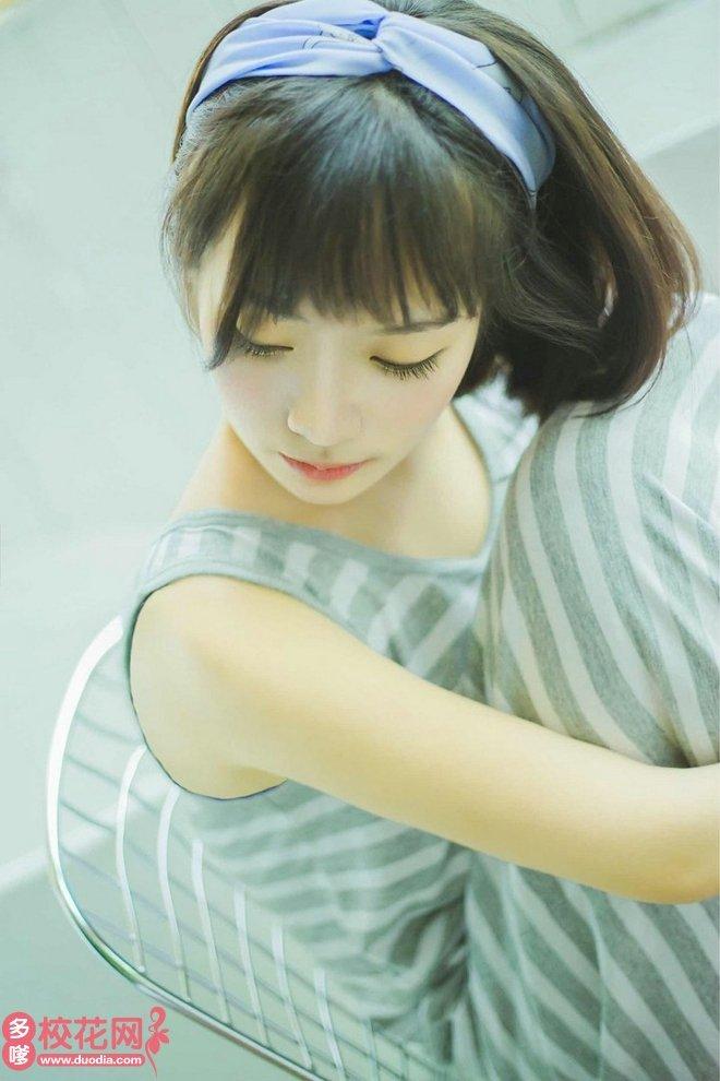 唐山学院美女校花唐桃兰摄影写真