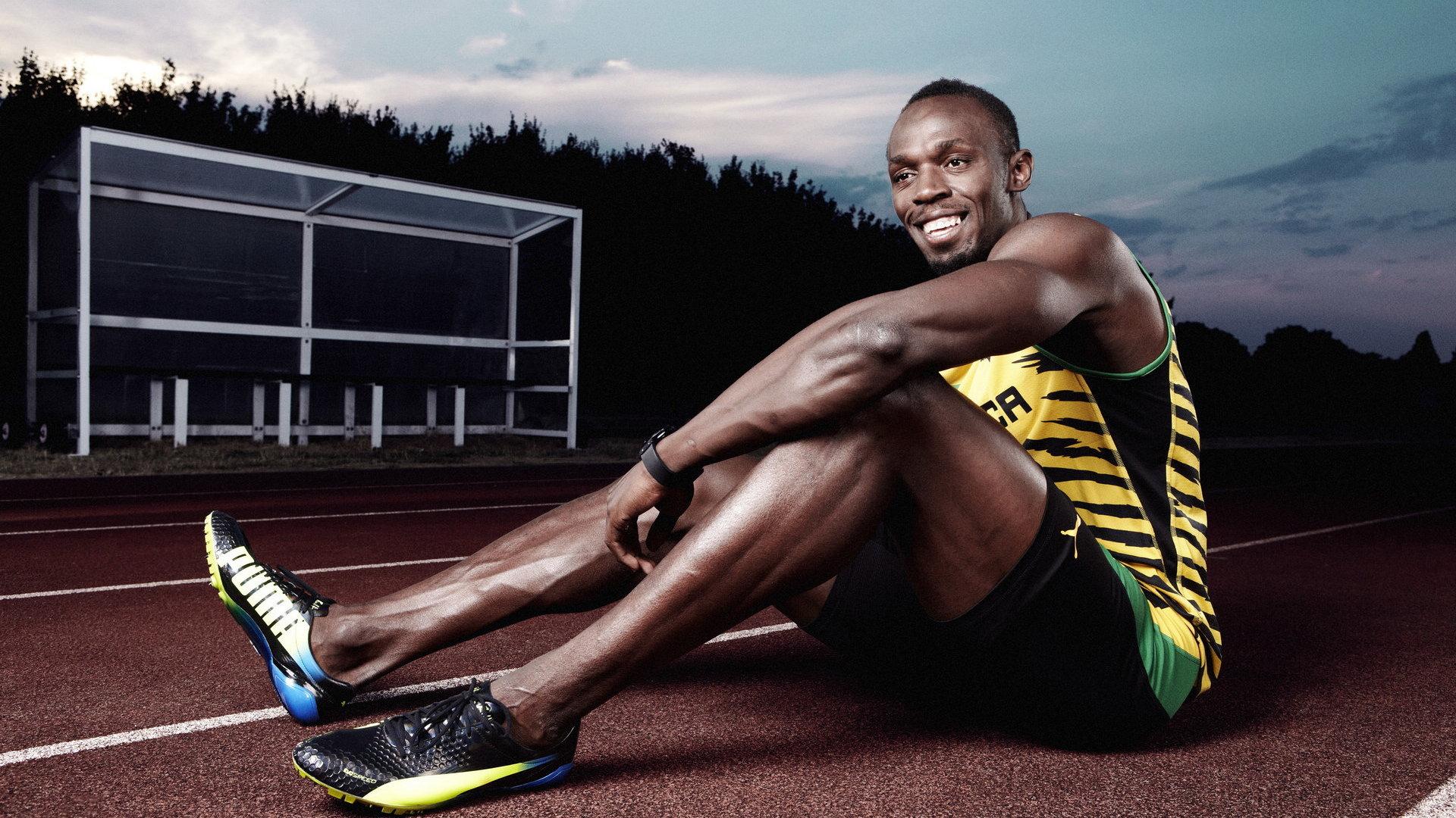 田径短跑运动员尤塞恩·博尔特4K超高清壁纸图片