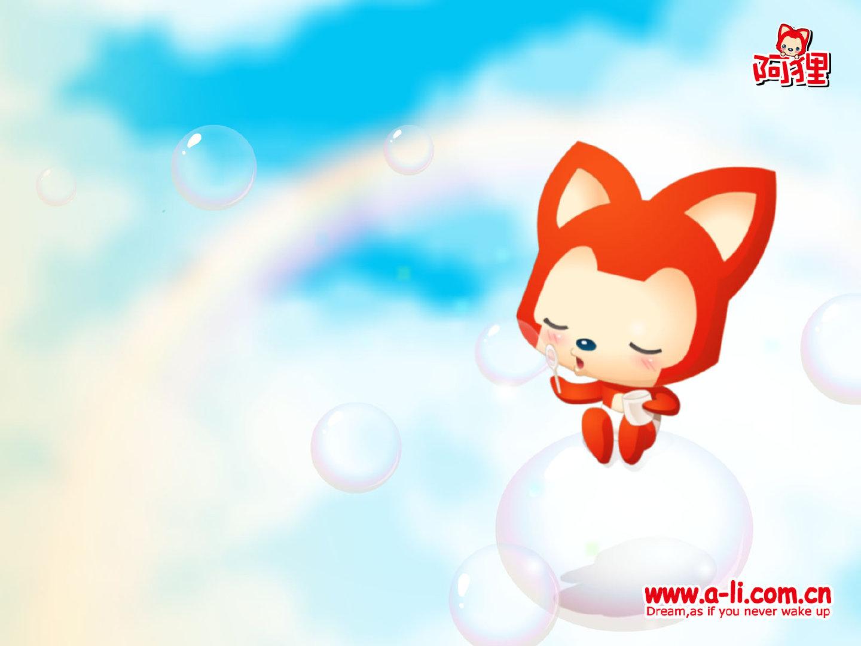 阿狸红色的小狐狸4K超高清壁纸图片