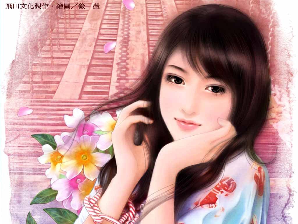 手绘美女 第三辑1080P高清图片素材