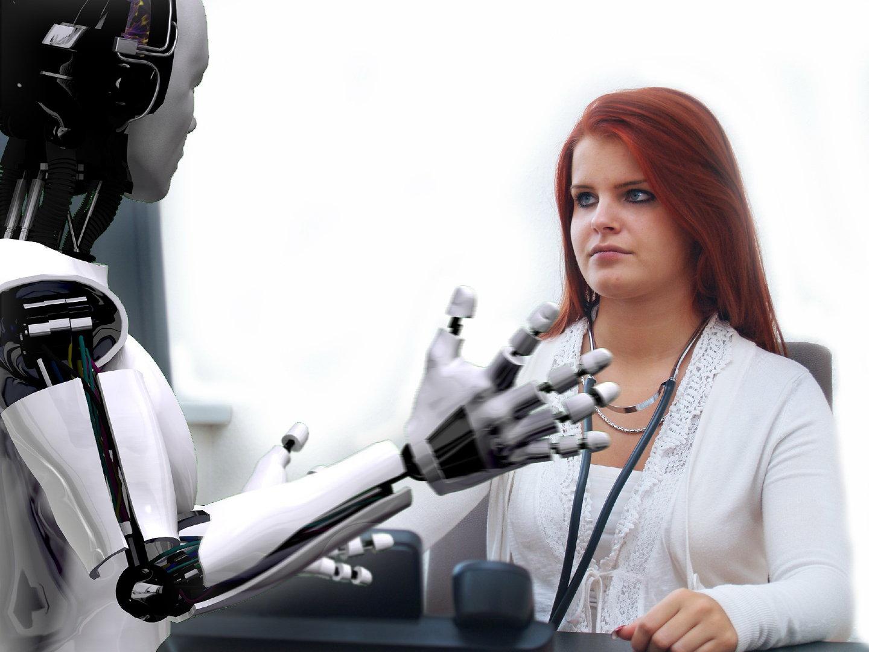 机器人对话人体艺术摄影
