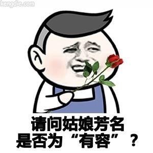 金馆长滑稽表情:请问姑娘芳名是否有容