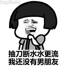金馆长qq聊天表情:抽刀断水水更流,我还没有男朋呀