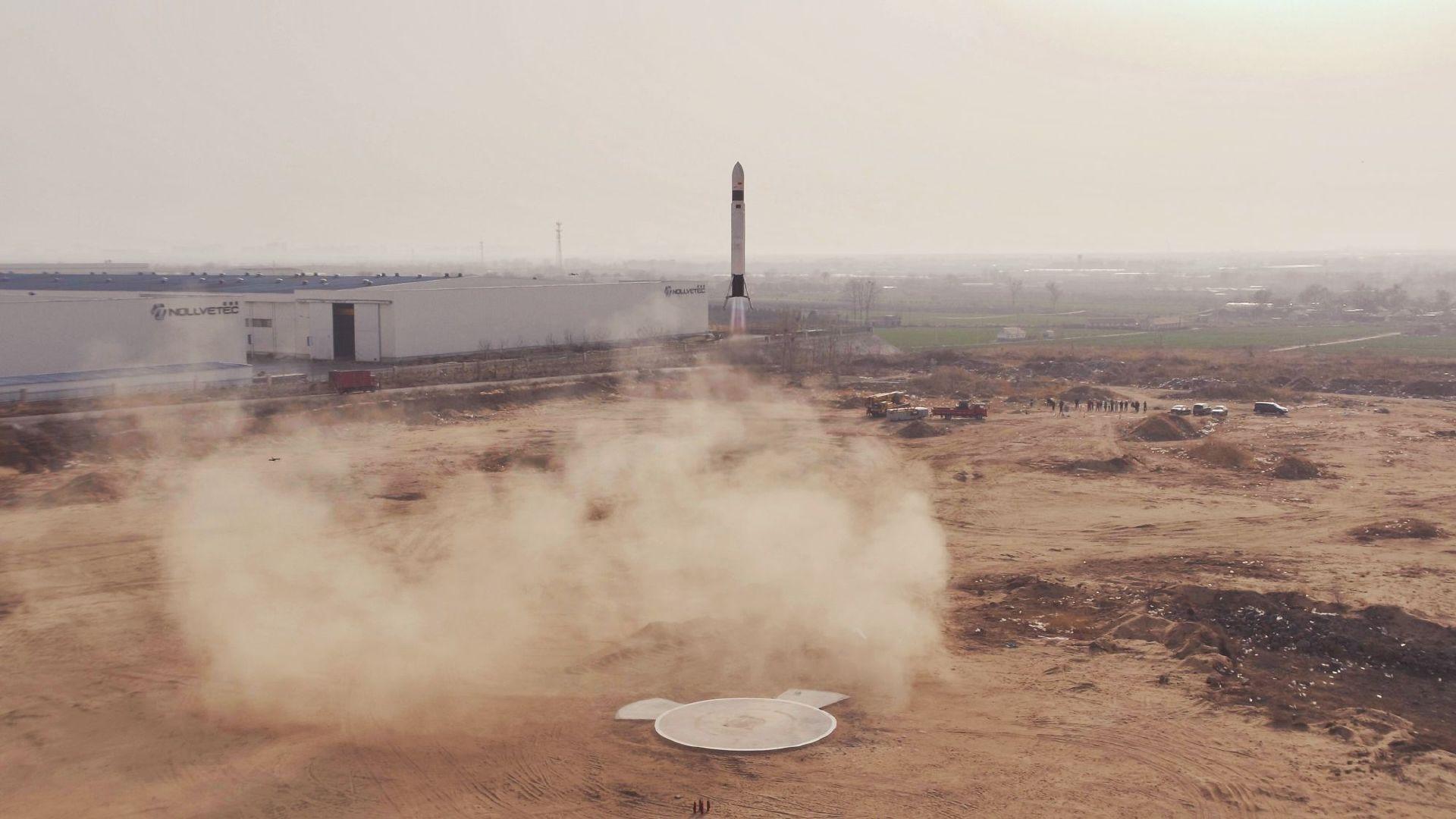 翎客航天成功进行火箭的无系绳发射、悬停、与着陆测试