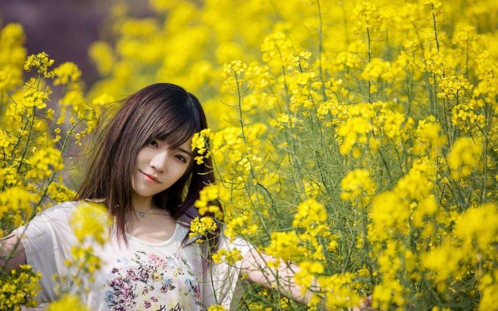 花中少女清纯森林系甜美极品尤物氧气写真