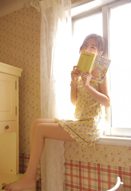 黄花熟女酥胸美乳淑女裙清纯气质写真