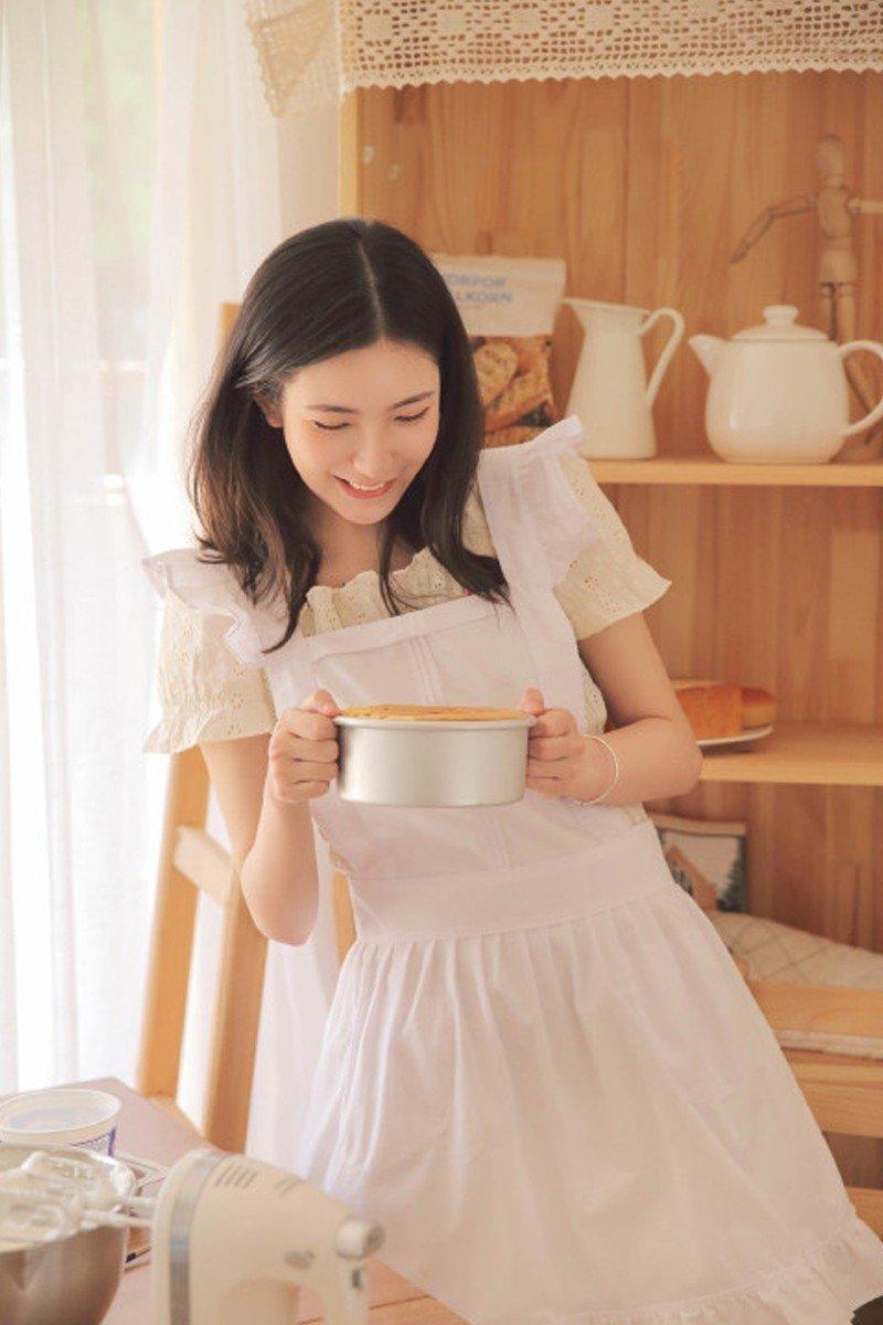 天然系厨娘少女居家做蛋糕唯美小清新写真